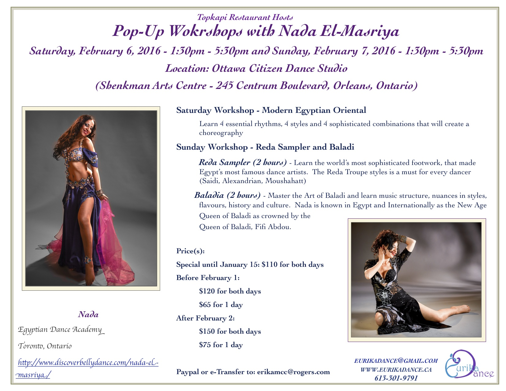 Pop Up Belly Dance Workshop